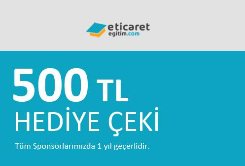 500 TL Hediye Çeki Kazan